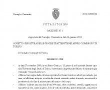 Delibera del Comune di Torino