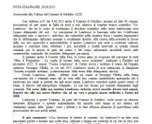 NOTA STAMPA: Assessorato alla Cultura del Comune di Girifalco (CZ)