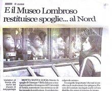 E il Museo LOmbroso restituisce spoglie...al Nord
