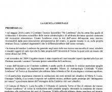 Adesione della Città di Platania (CZ) al Comitato No Lombroso