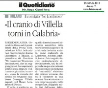 Il cranio di Villella torni in Calabria