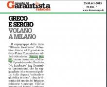 Greco e Sergio Volano a Milano