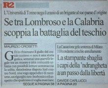 Se tra Lombroso e la Calabria scoppia la battaglia del teschio