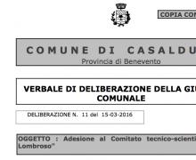 La Città di Casalduni è Testimonial del Comitato No Lombroso
