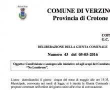 La città di Verzino (KR) è testimonial del Comitato No Lombroso.