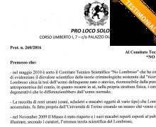 La Pro Loco Solopaca è testimonial del Comitato No Lombroso