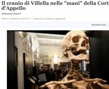 """Il cranio di Villella nelle """"mani"""" della Corte d'Appello"""