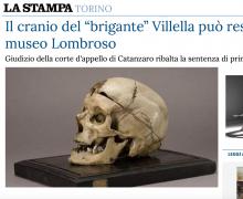 """Il cranio del """"brigante"""" Villella può restare al museo Lombroso"""