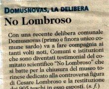 Domusnovas, la Delibera No Lombroso