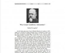 Fu Cesare Lombroso antisemita?