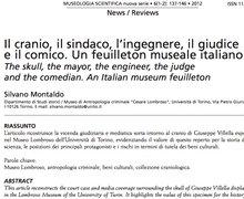Il cranio, il sindaco, l'ingegnere, il giudice, e il comico. Un feuilleton museale italiano