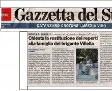 Chiesta la restituzione dei reperti dalla famiglia del brigante Villella
